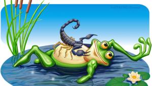 La fábula del escorpión y la rana