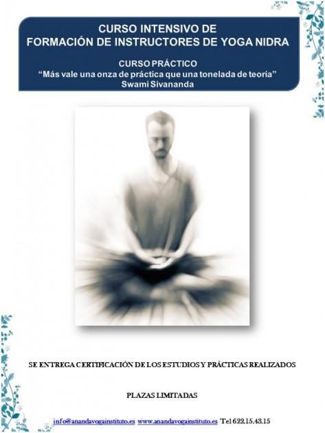 cartel yoga nidra cursos