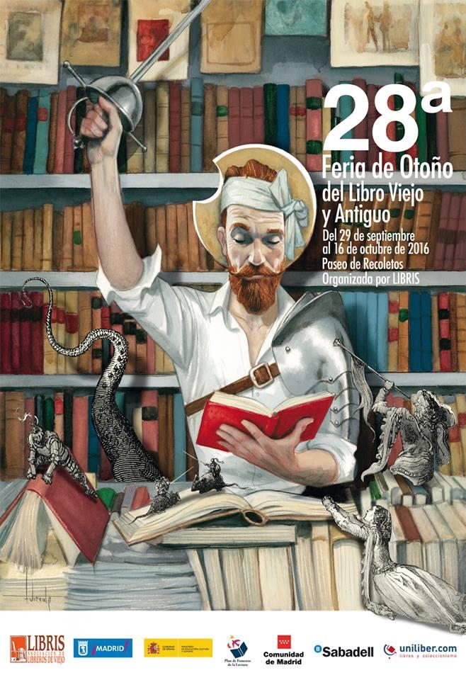 El reconocido ilustrador madrileño Fernando Vicente, también se ha sumado al homenaje con el diseño del cartel de esta edición, que está dedicado al Quijote.